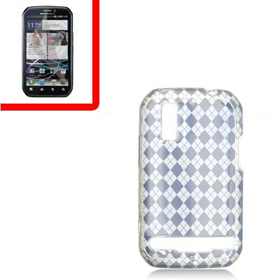 For Motorola Photon 4G/ Electrify MB855 Cover TPU Case D-Clear +Screen 2-in-1