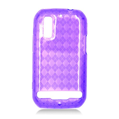 For Motorola Photon 4G/ Electrify MB855 Cover TPU Case D-Clear Purple