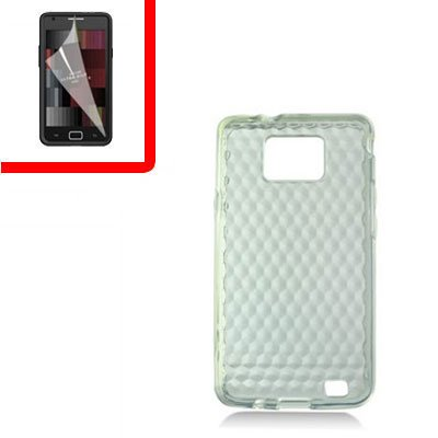 For Samsung Galaxy S II 4G TPU Case H-Clear +Screen 2-in-1