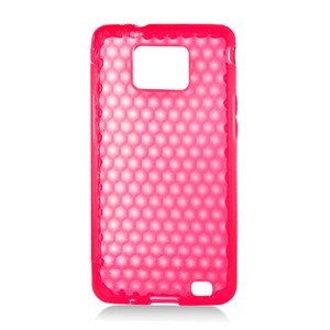 For Samsung Galaxy S II 4G TPU Case H-Clear -Red