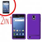 For Samsung Galaxy S Infuse 4G Cover Hard Case Purple +Screen Protector