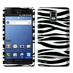 For Samsung Galaxy S Infuse 4G i997 Cover Hard Case Zebra