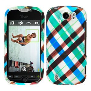 FOR HTC MyTouch 4G Slide cover hard case Plaid