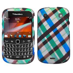 For BlackBerry Bold 9900 4G Cover Hard Case Plaid