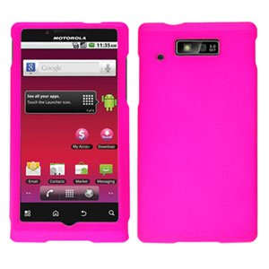 For Motorola Triumph WX435 Cover Hard Case Hot Pink