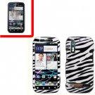 For Motorola Photon 4G MB855 Cover Hard Case Zebra +Screen 2-in-1