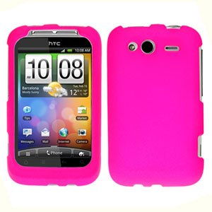 For T-Mobile HTC Wildfire S Cover Hard Case Hot Pink