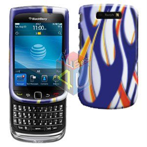 For BlackBerry Torch 9800 9810 4G Cover Hard Case Flame