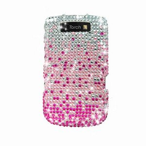 For BlackBerry Torch 9810 4G Cover Hard Case Crystal Bling Pink Splash