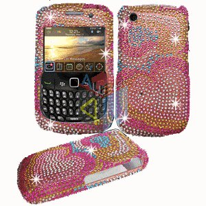 FOR BLACKBERRY CURVE 3G 9300 9330 Cover Hard Case Crystal P-Flower