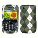 FOR BLACKBERRY CURVE 3G 9300 9330 COVER HARD CASE BK-Plaid