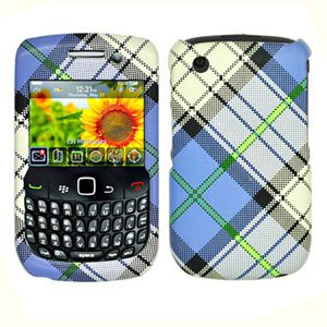 FOR BLACKBERRY CURVE 3G 9300 9330 COVER HARD CASE PU-Plaid