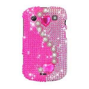 For BlackBerry Bold 9900 9930 Cover Hard Case Rhinestones-Pearl / Pink
