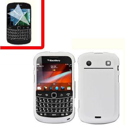 For BlackBerry Bold 9930 9900 4G Cover Hard Case White +Screen