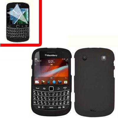For BlackBerry Bold 9930 9900 4G Cover Hard Case Black +Screen