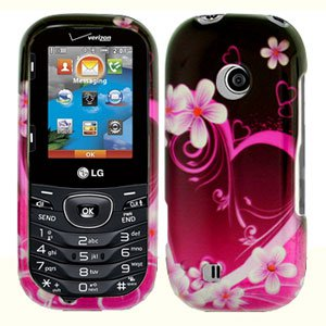 For LG Cosmos 2 VN251 Cover Hard Case Love
