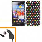 For Samsung Galaxy S II Epic 4G Touch Car Charger +Hard Case R-Dot