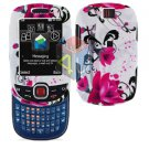 For Samsung Smiley SGH-T359 / Elevate SGH-T356 Cover Hard Case W-Flower