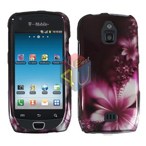 For Samsung Exhibit 4G T759 Cover Hard Case L-Flower