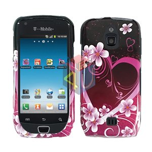 For Samsung Exhibit 4G T759 Cover Hard Case Love
