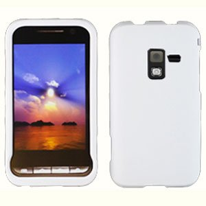 For Samsung Conqure 4G D600 Cover Hard Case Rubberized White