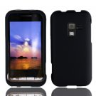 For Samsung Conqure 4G D600 Cover Hard Case Rubberized Black