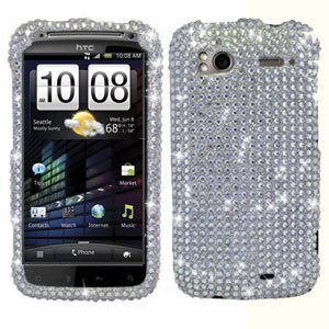 For HTC Sensation 4G Cover Hard Case Crystal Bling Clear