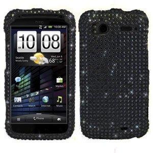 For HTC Sensation 4G Cover Hard Case Crystal Bling Black