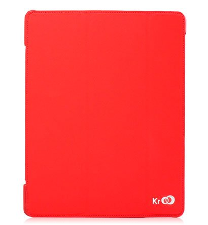 For Apple ipad 2 Cover Case w/ Smart Mode / Fold Stand #Red Tri-Pad Shell