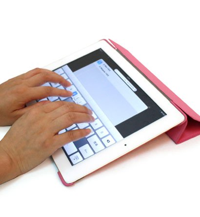 For Apple ipad 2 Cover Case w/ Smart Mode / Fold Stand #Pink Tri-Pad Shell