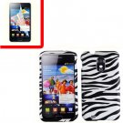 For Samsung Galaxy S II Epic 4G Touch D710 Cover Hard Case Zebra +Screen 2 in1