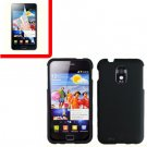 For Samsung Galaxy S II Epic 4G Touch D710 Cover Hard Case Black +Screen 2 in1