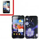 For Samsung Galaxy S II Epic 4G Touch D710 Cover Hard Case B-Flower +Screen 2 in1