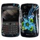 For BlackBerry Curve 9360/ 9370/ 9350 Cover Hard Case M-Flower