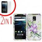 For LG T-Mobile G2x Cover Hard Case G-Flower +Screen 2-in-1