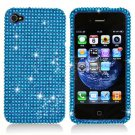 For Apple iphone 4S / 4 Cover Hard Case Crystal Bling Blue