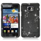 For Samsung Galaxy S II i9100 Cover Hard Case Crystal Bling Black