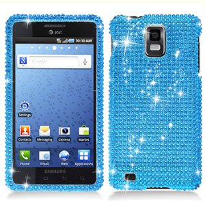 For Samsung Galaxy S infuse i997 Cover Hard Phone Case Crystal Bling Blue