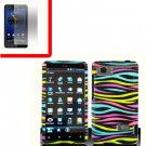 For HTC Vivid / Raider LTE 4G Cover Hard Phone Case Rainbow + Screen 2-in-1