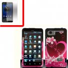For HTC Vivid / Raider LTE 4G Cover Hard Phone Case Love + Screen 2-in-1