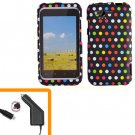 For HTC Rhyme Car Charger + Cover Hard Phone Case R-Dot