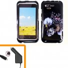 For HTC Rhyme Car Charger + Cover Hard Phone Case Eagle