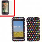 For HTC Rhyme Cover Hard Phone Case R-Dot + Screen 2-in-1
