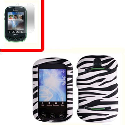 For Pantech Pursuit II Cover Hard Case Zebra +Screen 2-in-1