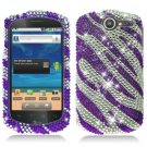 For Huawei Impulse U8800 / Ideos X5 Cover Hard Case Crystal Bling Purple Zebra