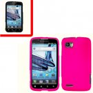 For Motorola Atrix 2 4G MB865 Cover Hard Case Hot Pink + Screen Protector 2-in-1