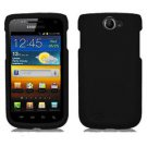 For Samsung Exhibit II 4G T679 Cover Hard Case Rubberized Black