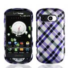 For Pantech Breakout Cover Hard Phone Case Purple Plaid