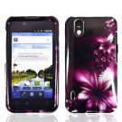 For LG Marquee LS855/ Optimus Black P970 Cover Hard Case L-Flower