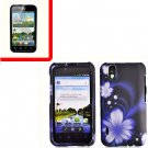 For LG Marquee LS855/ Optimus Black Cover Hard Case B-Flower +Screen